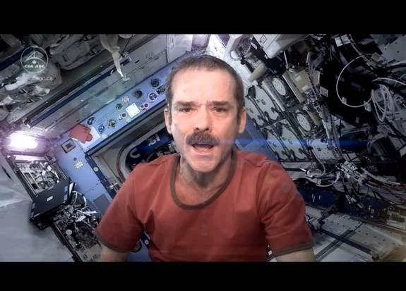 "As a final farewell to his life on board the International Space Station, Canadian Space Agency astronaut Chris Hadfield covered David Bowie's ""Space Oddity"" from oribit."