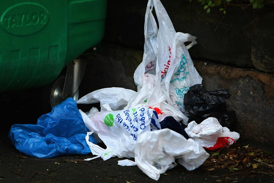 Plastic bag use has fallen 90% since the 5p levy was introduced (Getty Images)