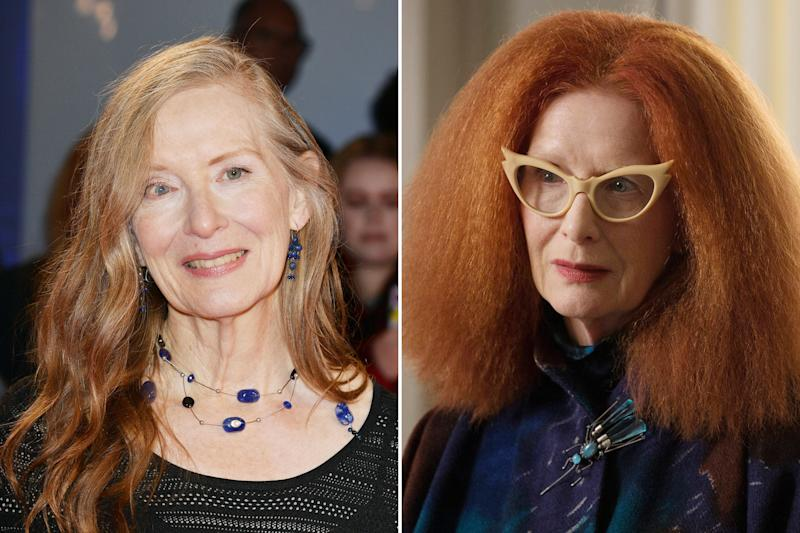 France Conroy's most famous roles are usually more low key, which made her transformation into full-fledged fashionista Myrtle Snow all the more exciting. Photos courtesy of Getty Images and Everett Collection.