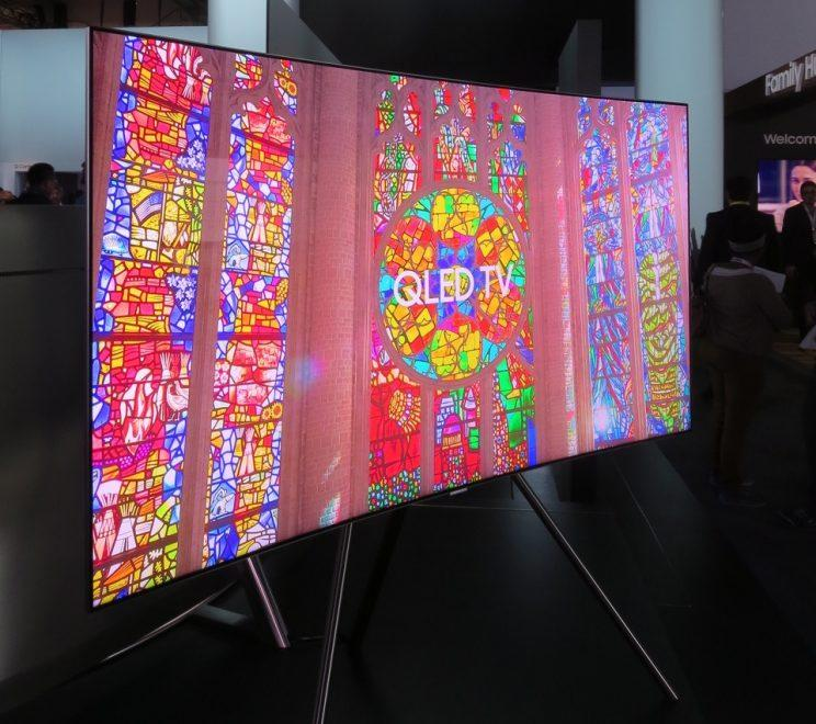 Samsung QLED TV at CES 2017.