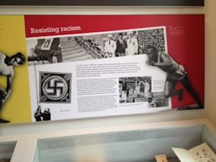 A display at the Wiener Library for the Study of the Holocaust and Genocide in London.