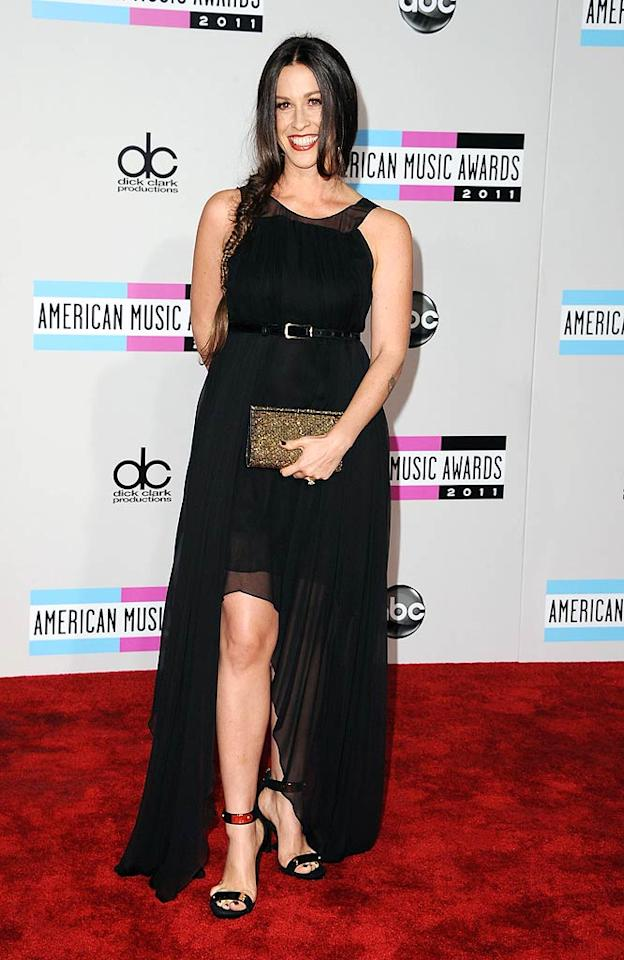 Rocker Alanis Morissette arrives at the 2011 American Music Awards held at the Nokia Theatre L.A. LIVE. (11/20/2011)