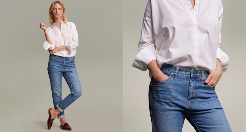 """Everlane's consciously designed denim isgood for the environment <a href=""""https://www.everlane.com/denim"""" target=""""_blank"""">and your wallet</a>. (Everlane)"""