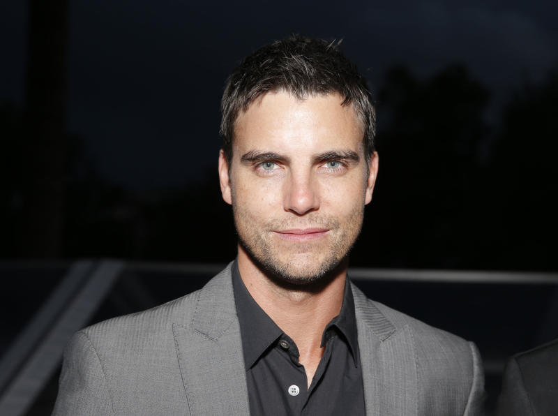 "FILE - In this May 17, 2013 file photo, actor Colin Egglesfield attends a benefit held by Mammoth Entertainment and LyonHeartLove Foundation to protect illegally poached African Rhino in Cannes, southern France. Authorities say Egglesfield has been arrested on allegations that he damage property at an Arizona arts festival. Tempe police say the 41-year-old actor known for his roles on ""The Client List"" and ""All My Children"" was arrested around 2:30 a.m. Saturday, March 29, 2014, on charges of disorderly conduct and criminal damage. (Photo by Todd Williamson/Invision/AP, file)"