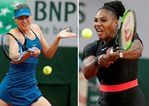 Best of enemies: Maria Sharapova and Serena Williams who will meet again at the French Open on Monday