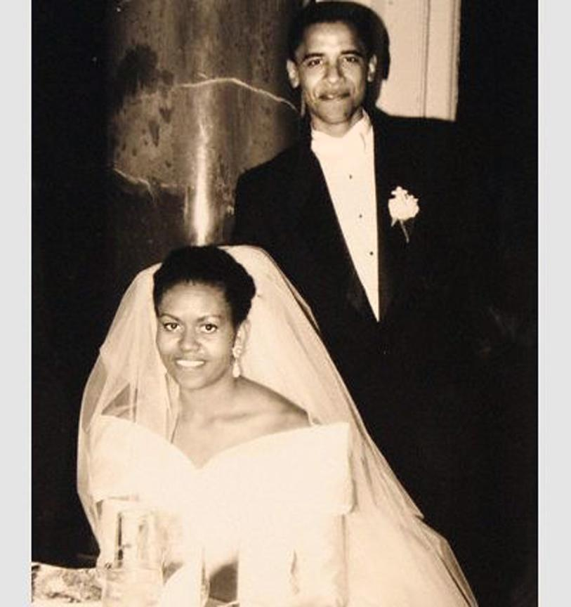 "<p>In the summer of 1989, Michelle LaVaughn Robinson heard stories of a sharp intern named Barack Obama who'd just finished his first year at Harvard law. ""I thought, this is probably just a Black man who can talk straight. That's why they're excited about him,"" Michelle said to supporters in a speech. Then he took her to church basements and she saw him in action. ""He was able to articulate a vision that resonated with people, that was real. And right then and there, I decided this guy was special. The authenticity you see is real, and that's why I fell in love with him."" Their romance continued to blossom as they supported each other through the good and bad, including the death of Michelle's father in 1990. They became husband and wife on October 3, 1992.</p>"