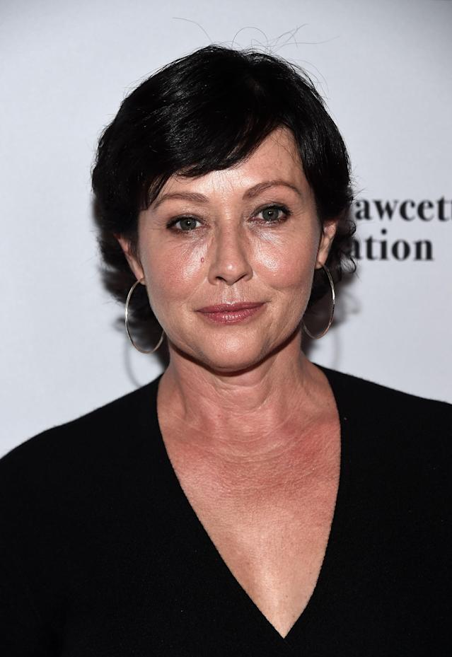 Shannen Doherty at Wallis Annenberg Center for the Performing Arts on Sept. 9, 2017, in Beverly Hills. (Photo: Getty Images)
