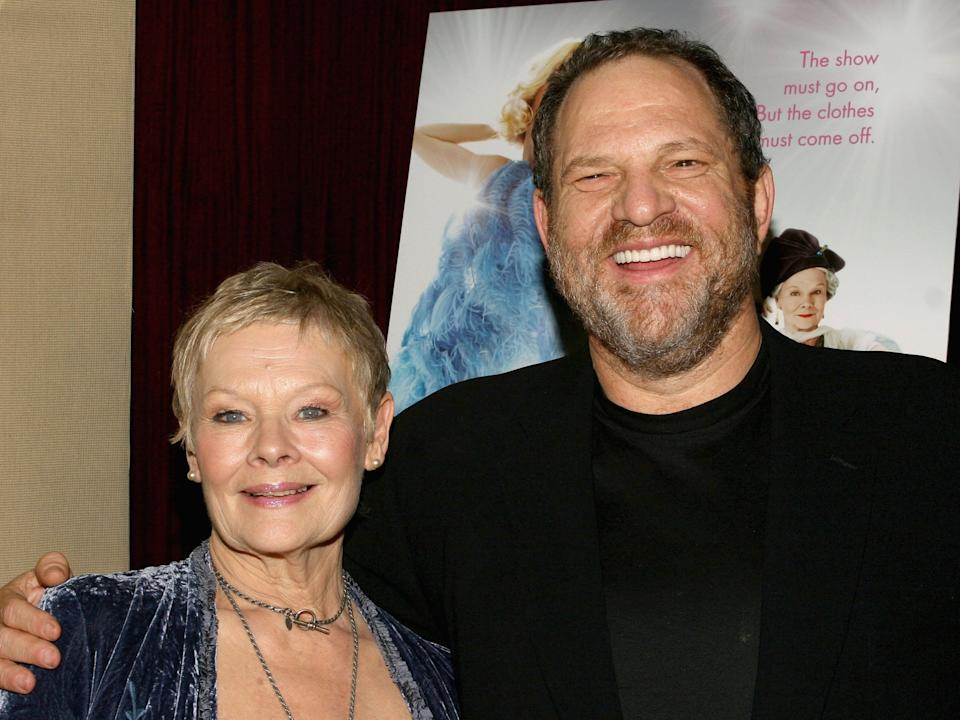 Judi Dench and the convicted sex offender Harvey Weinstein in 2005 (Scott Wintrow/Getty Images)