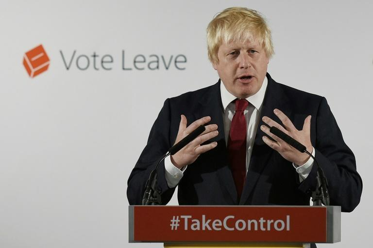 Boris Johnson, before he became prim minister, campaigning to leave the EU in 2016