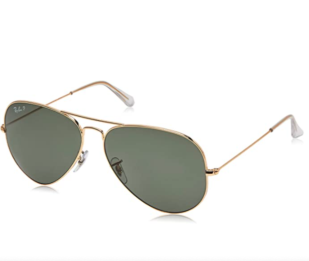 "<h2>30% Off Ray-Ban Unisex Classic Polarized Aviator Sunglasses</h2><br>Gold frames, green-polarized lenses, and a classic-aviator design meet a 30%-off price to make one majorly worth-it Cyber Monday fashion score (that would also make great gift material!). <br><br><strong>RAY BAN</strong> Unisex-Adult Rb3025 Classic Polarized Sunglasses, $, available at <a href=""https://amzn.to/2VgNijs"" rel=""nofollow noopener"" target=""_blank"" data-ylk=""slk:Amazon"" class=""link rapid-noclick-resp"">Amazon</a>"