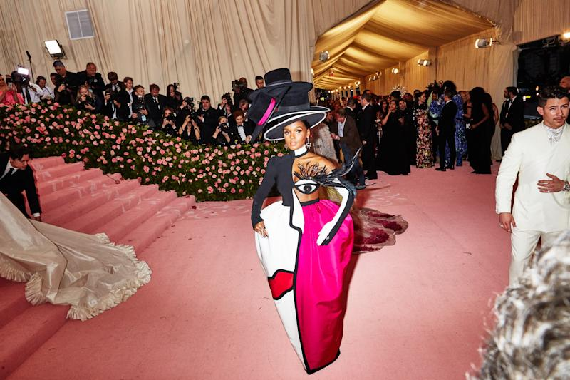 Janelle Monae on the red carpet at the Met Gala in New York City on Monday, May 6th, 2019. Photograph by Amy Lombard for W Magazine.