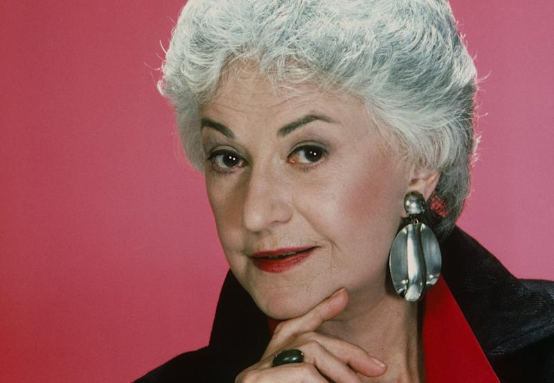 "Bea Arthur's ""Golden Girls"" character Dorothy Zbornak loved wearing oversized earrings. (Photo: NBCU Photo Bank/Getty Images)"