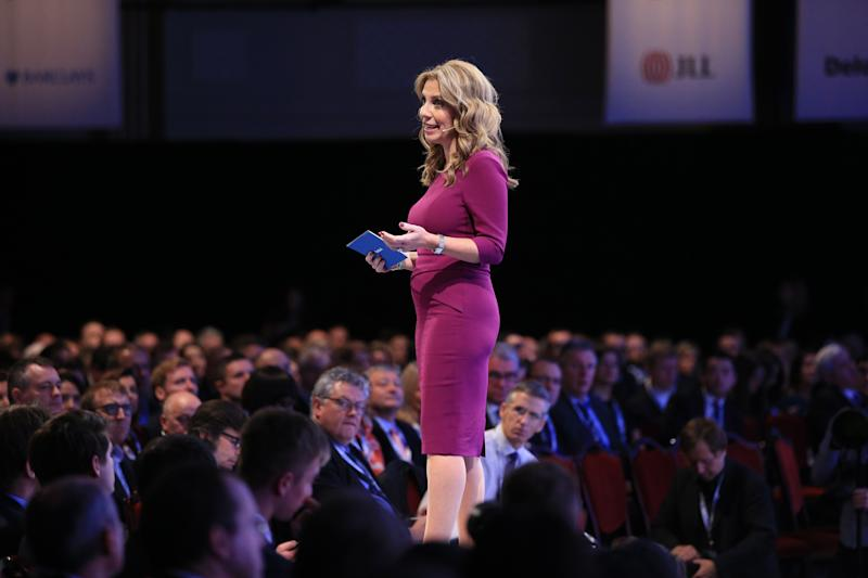 Mendelsohn speaking to the Confederation of British Industry (CBI) annual conference in London. Photo: Jonathan Brady/PA Images via Getty Images