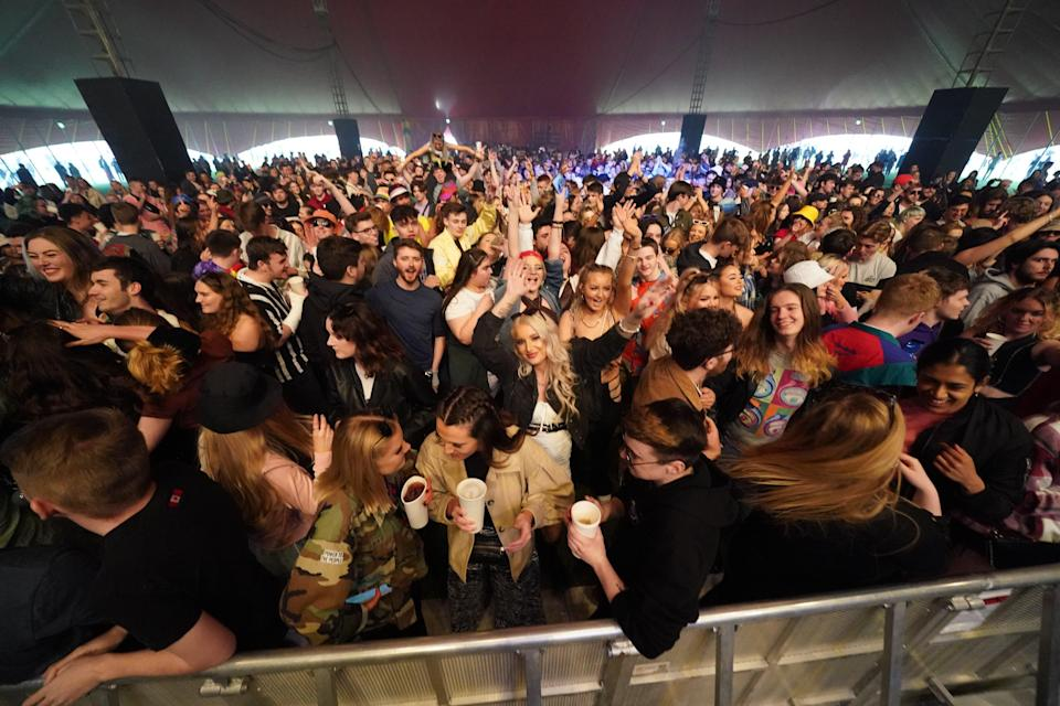 Revellers at a music festival in Sefton Park (PA Wire)