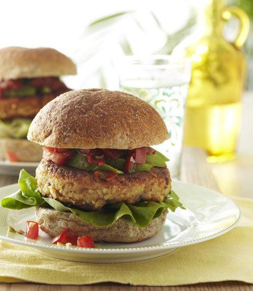 """<p>What could be more satisfying than a classic burger? Here's the vegetarian-friendly way to do it right.</p><p><a href=""""https://www.goodhousekeeping.com/food-recipes/a11162/tex-mex-bean-burgers-recipe-ghk0811/"""" rel=""""nofollow noopener"""" target=""""_blank"""" data-ylk=""""slk:Get the recipe for Tex-Mex Bean Burger »"""" class=""""link rapid-noclick-resp""""><em>Get the recipe for Tex-Mex Bean Burger »</em></a></p>"""