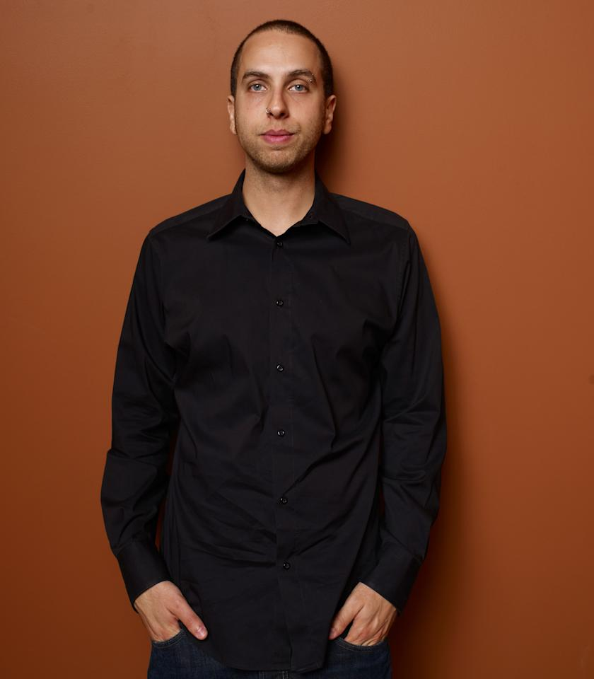 "TORONTO, ON - SEPTEMBER 11:  Director Brandon Cronenberg of ""Antiviral"" poses at the Guess Portrait Studio during 2012 Toronto International Film Festival on September 11, 2012 in Toronto, Canada.  (Photo by Matt Carr/Getty Images)"