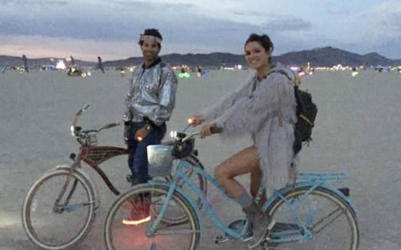 Orthopaedic surgeon Grant WRobicheaux, 38, of Newport Beach and Cerissa Laura Riley attended popular music festival Burning Man together.