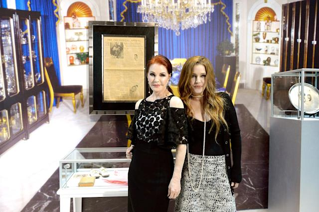 "<p>Speaking of money, Lisa Marie and Priscilla Presley, pictured in 2015, continue to oversee all things Elvis. However, <a href=""https://www.today.com/money/lisa-marie-presleyselling-elvis-estate-2D80555480"" rel=""nofollow noopener"" target=""_blank"" data-ylk=""slk:Lisa Marie sold the bulk of his estate"" class=""link rapid-noclick-resp"">Lisa Marie sold the bulk of his estate</a> — including rights to her father's name and image — in a $100 million deal in 2004. Despite this, Lisa Marie has had money trouble. In 2017, she sued a business manager for allegedly <a href=""http://www.tmz.com/2017/11/08/lisa-marie-presley-sues-business-manager-elvis-presley-squandering-money/"" rel=""nofollow noopener"" target=""_blank"" data-ylk=""slk:squandering $100 million"" class=""link rapid-noclick-resp"">squandering $100 million</a>. (Photo: Bryan Steffy/WireImage) </p>"
