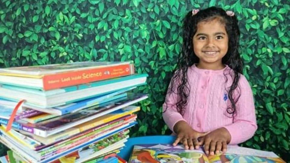 5-year-old Indian-American reads 36 books in 105 minutes; sets record