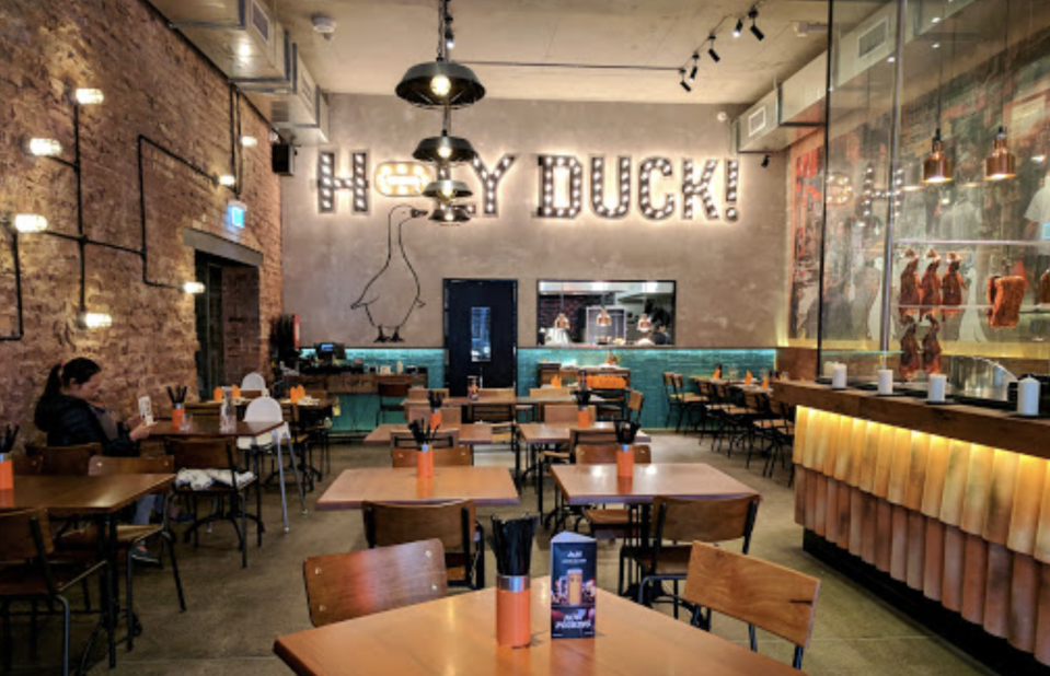 One confirmed case has been linked to Holy Duck, a modern Chinese restaurant in Chippendale. Source: Briggs Jourdan/Google