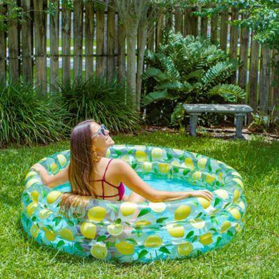 "<h2><a href=""https://www.bedbathandbeyond.com/store/s/inflatable-pools"" rel=""nofollow noopener"" target=""_blank"" data-ylk=""slk:Bed Bath & Beyond"" class=""link rapid-noclick-resp"">Bed Bath & Beyond</a></h2> <br>Home of <a href=""https://www.bedbathandbeyond.com/store/product/poolcandy-lemon-sunning-pool/5384853"" rel=""nofollow noopener"" target=""_blank"" data-ylk=""slk:the bestselling Lemon Sunning Pool"" class=""link rapid-noclick-resp"">the bestselling Lemon Sunning Pool</a> (which is back in stock btw!), BB&B boasts an impressive lineup of inflatable pool styles that span from petite and chic to practical and family-sized. <br><br>Plus, if you see options that are out of stock online, you may still be able to order them for curbside pickup at your nearest store location — which is faster and more affordable than having it shipped anyways!<br><br><strong>PoolCandy</strong> Lemon Sunning Pool, $, available at <a href=""https://go.skimresources.com/?id=30283X879131&url=https%3A%2F%2Fwww.bedbathandbeyond.com%2Fstore%2Fproduct%2Fpoolcandy-lemon-sunning-pool%2F5384853"" rel=""nofollow noopener"" target=""_blank"" data-ylk=""slk:Bed Bath and Beyond"" class=""link rapid-noclick-resp"">Bed Bath and Beyond</a><br><br><br>"