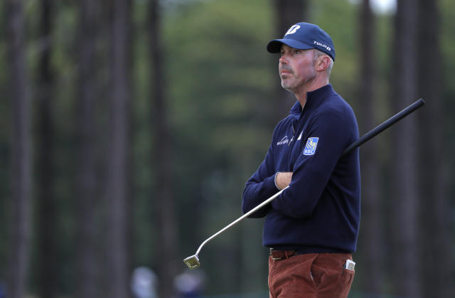 "<a class=""link rapid-noclick-resp"" href=""/pga/players/737/"" data-ylk=""slk:Matt Kuchar"">Matt Kuchar</a>'s controversial season on the PGA Tour has even caught his grandmother's attention, just not in the way he would have liked. (Kevin C. Cox/Getty Images)"