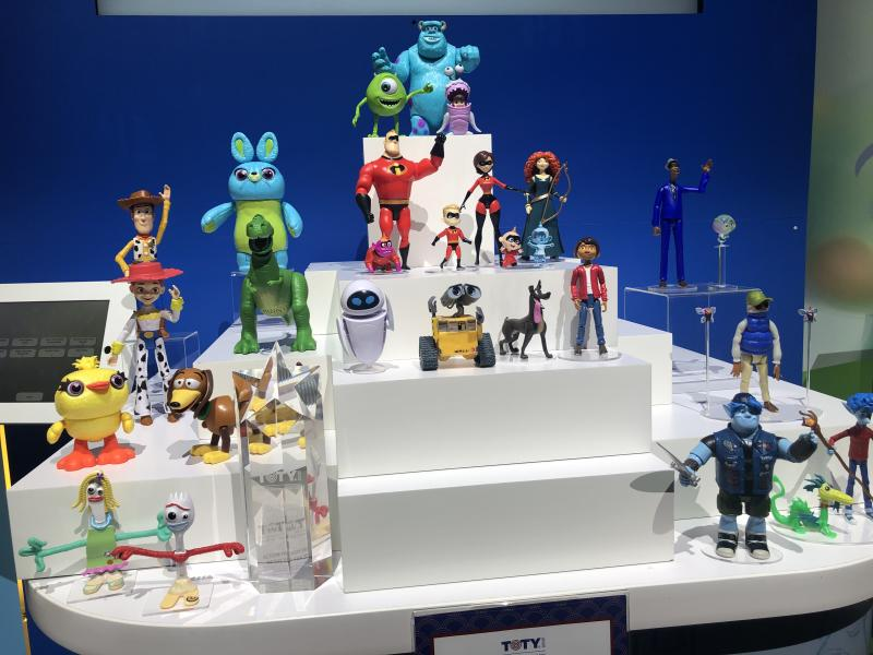 Mattel's collection of Pixar figures (Photo: Ethan Alter)