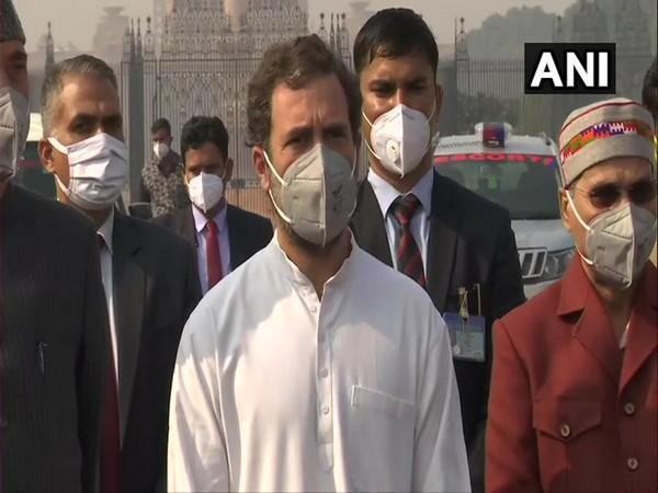 Congress leader Rahul Gandhi while speaking to the reporters on Thursday (Photo/ANI)