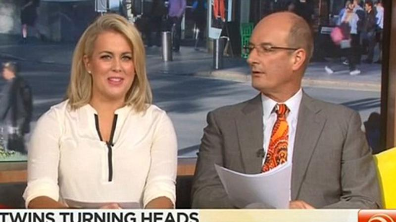 Samatha Armytage and David 'Kochie' Koch appear on Sunrise