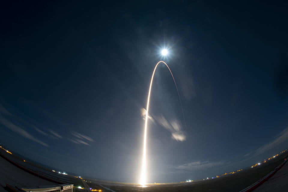 The European Space Agency's Solar Orbiter lifts off on an Atlas V rocket from Cape Canaveral Air Force Station in Florida, on a historic mission to study the sun's poles.