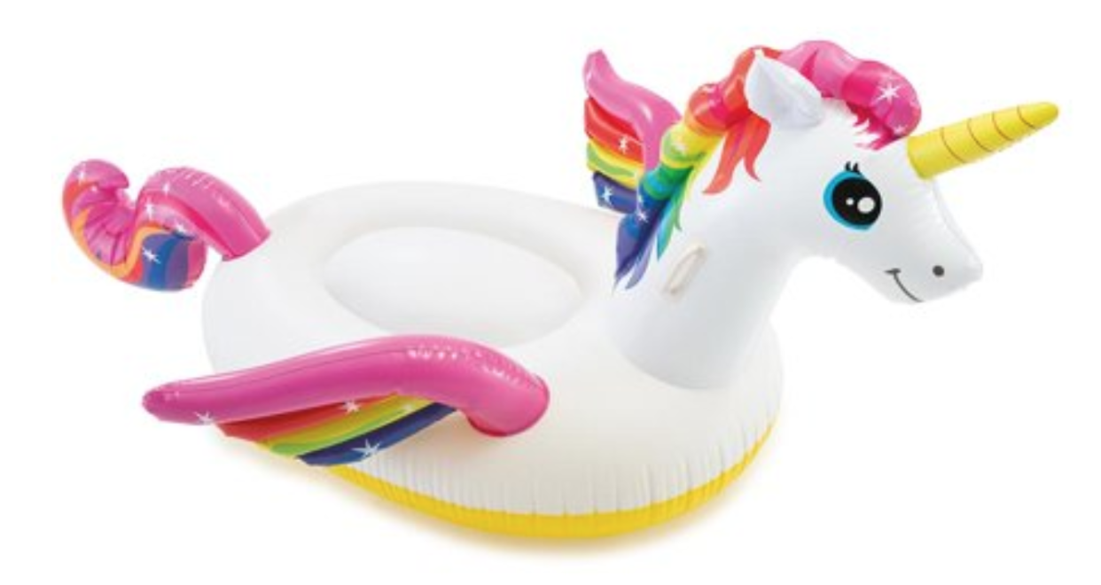 If you didn't spend at least one day lounging on a unicorn pool float this summer, you're not living right. (Photo: Walmart)