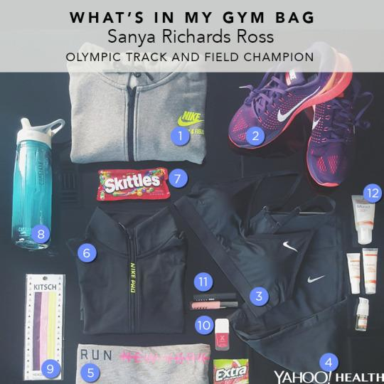 cba53e1232d What s In My Gym Bag  Sanya Richards Ross, Olympic Track Star