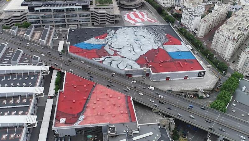 French street art duo unveil largest mural in Europe