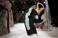 The Christian Siriano collection is modeled during Fashion Week, Saturday, Sept. 7, 2019, in New York. (AP Photo/Richard Drew)