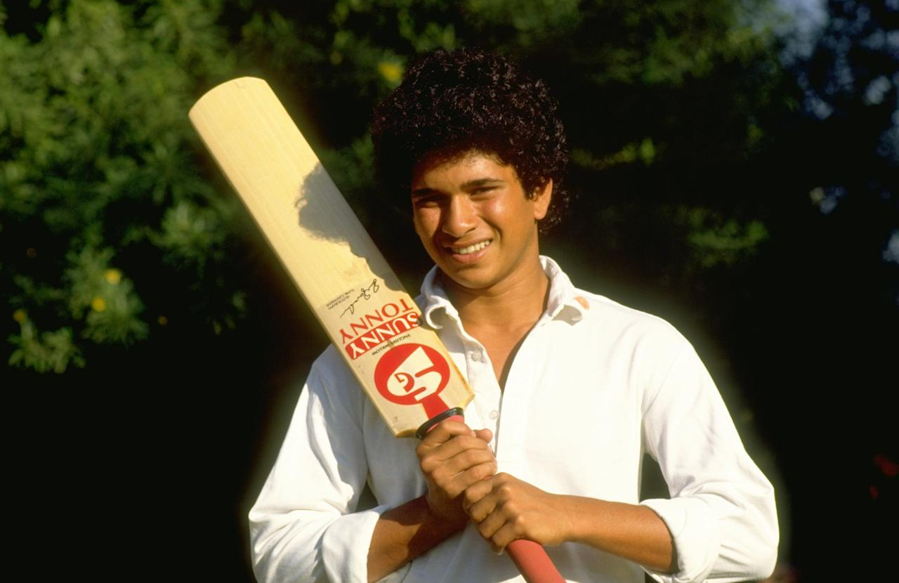 Oct 1989:  Portrait of Sachin Tendulkar of India before the Test series against Pakistan in India. \ Mandatory Credit: Ben  Radford/Allsport