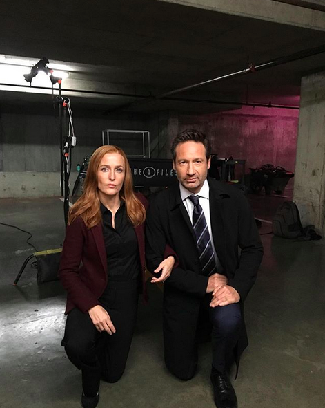"""<p>The <em>X-Files</em> pair teamed up to take a knee — like former San Francisco 49ers' quarterback <a href=""""https://sports.yahoo.com/nfl-protests-national-anthem-explained-191623412.html"""" data-ylk=""""slk:Colin Kaepernick has done many times"""" class=""""link rapid-noclick-resp"""">Colin Kaepernick has done many times</a> in protest of """"a country that oppresses black people and people of color."""" (Photo: <a href=""""https://www.instagram.com/p/BZfJfvugchw/?taken-by=gilliana"""" rel=""""nofollow noopener"""" target=""""_blank"""" data-ylk=""""slk:Gillian Anderson via Instagram"""" class=""""link rapid-noclick-resp"""">Gillian Anderson via Instagram</a>)<br><br><br></p>"""