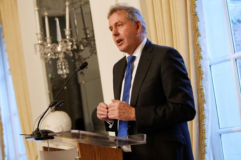 "British Ambassador Kim Darroch (pictured January 2017) reportedly said Trump's presidency could ""crash and burn"" and ""end in disgrace"" (AFP Photo/Paul Morigi)"