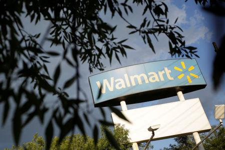 Walmart sign is pictured at one of their stores in Monterrey