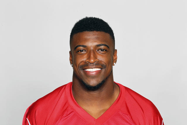 FILE - This is a June 11, 2018, file photo showing Keanu Neal of the Atlanta Falcons NFL football team. Falcons safety Keanu Neal will miss the remainder of the season after hurting his left knee in Thursday night's 18-12 opening loss at Philadelphia. The loss of Neal, a leader on the defense who was selected to his first Pro Bowl in 2017, is a major blow to the Atlanta defense. (AP Photo/File)