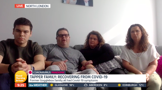 Tapper family on Lorraine (ITV)