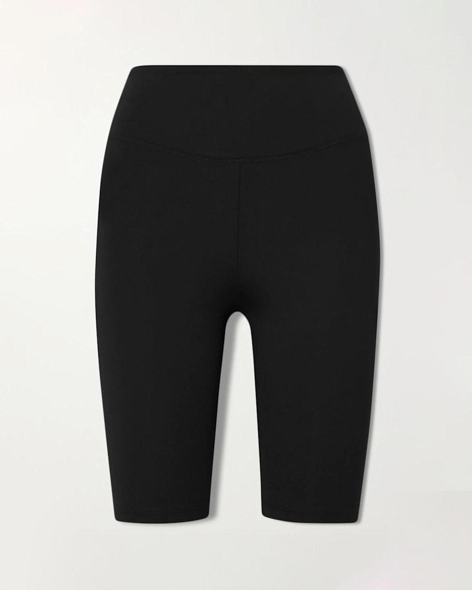 """""""There is nothing that I love more than a good pair of bike shorts. This pair by Ernest Leoty checks all of the boxes with its high waist and perfect leg length. It's a great transition from sweats in the warm months, and my go-to everyday outfit with a crisp blouse and Birkenstock sandals."""" - KDG $100, Net-a-Porter. <a href=""""https://www.net-a-porter.com/en-us/shop/product/ernest-leoty/sport/shorts/adelaide-stretch-shorts/22527730565876145"""" rel=""""nofollow noopener"""" target=""""_blank"""" data-ylk=""""slk:Get it now!"""" class=""""link rapid-noclick-resp"""">Get it now!</a>"""
