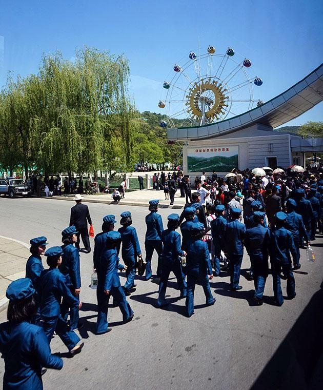 A British photographer has given a rare inside glimpse into a North Korean theme park. Photo: Caters News