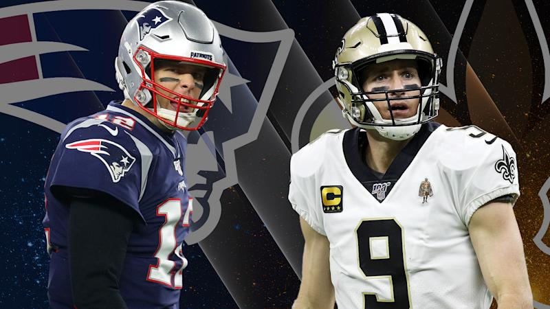 Tom Brady and Drew Brees are out of the NFL playoffs early. (Yahoo Sports illustration by Michael Aguilar)
