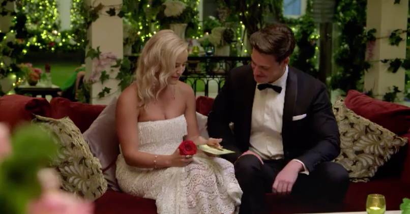 Elly was lucky enough to receive the golden ticket from Matt. Photo: Channel Ten
