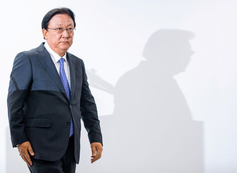 CJ Logistics CEO Park attends a news conference in Seoul