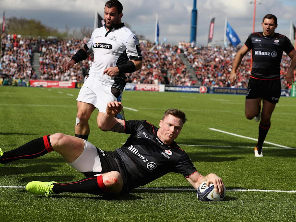 Chris Ashton enjoyed a fine game on the wing as Saracens beat Glasgow: Getty