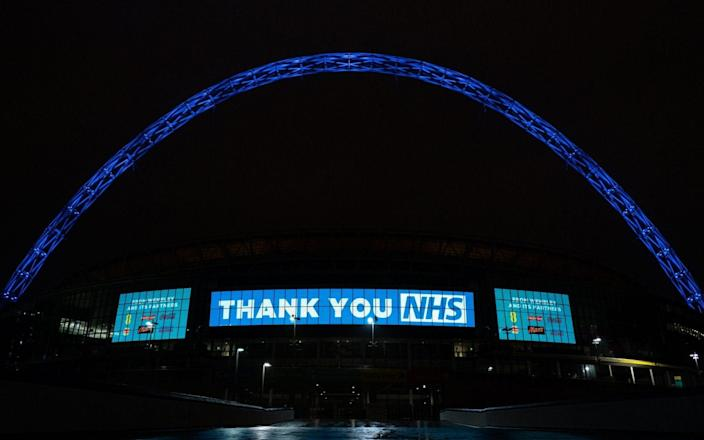 Wembley Stadium Arch in London - PA