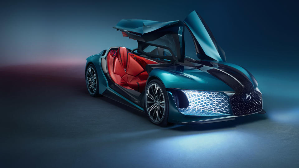 The DS X e-Tense model debuted at the Paris International Motor Show. Photo: DS Automobiles