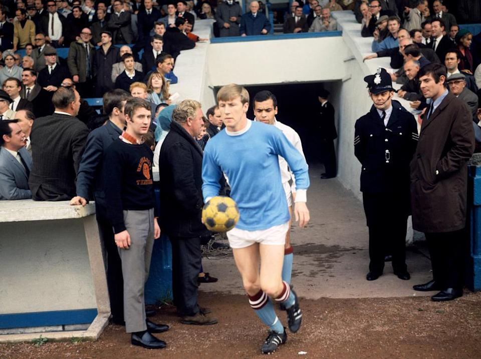 Colin Bell leads out Manchester City in 1967.