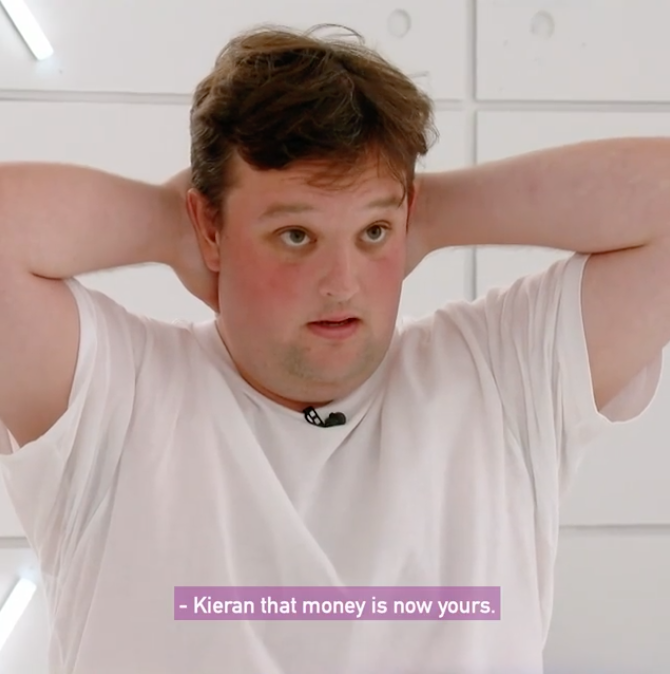 Big Brother's Kieran has revealed the savage reason he quit the show for $15k. Photo: Channel 7.